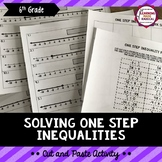 Solving One Step Inequalities Cut and Paste Activity
