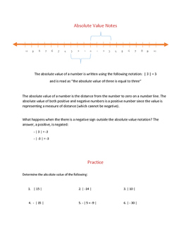 Graphing Integers, Number Line and Place Value - Pre-Algebra Introduction Lesson
