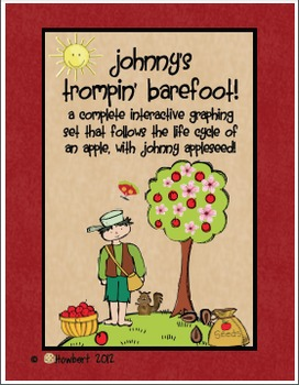 Graphing:  Johnny Appleseed!  An Apple Life Cycle Graphing Set!