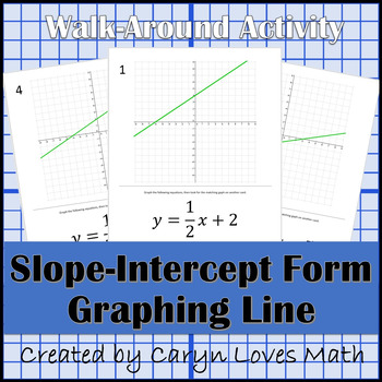 Graphing Linear Equations In Slope Intercept Form Walk Around Activity