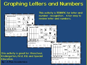 Graphing  Letters and Numbers - Kindergarten