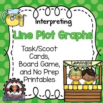Line Plot Graphs Game and No Prep Printables