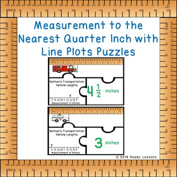 Measure To The Nearest Quarter Inch Worksheet Teaching Resources