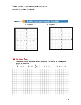 Graphing Linear Equ Guided Notes Big Ideas Math Red Accel: 7th Grade Chapter 13