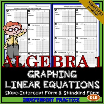 Graphing Linear Equations Worksheet By Algebra Accents Tpt