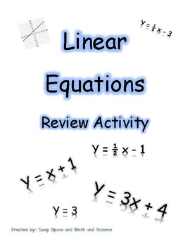 Graphing Linear Equations *FREEBIE*