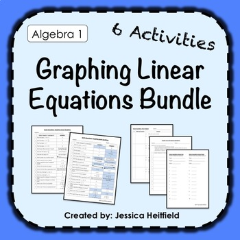 Graphing Linear Equations Activity Bundle: Fix Common Mistakes!