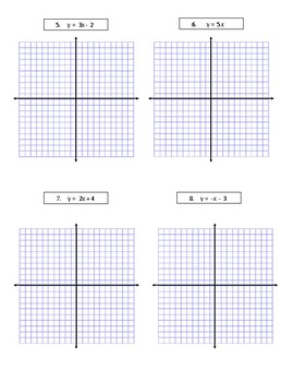 Graphing Linear Equations Assessment (Quiz) & Answer Key