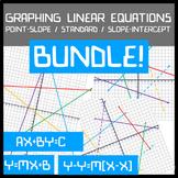 Graphing Linear Equations BUNDLE! Slope-Intercept / Standard / Point-Slope