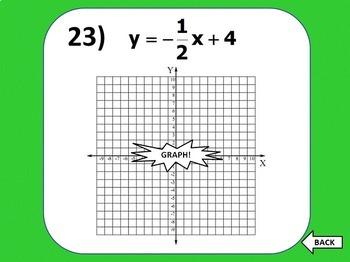 Graphing Linear Equations Bingo