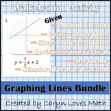 Graphing Linear Equations Bundle - 6 Walk Around Activities