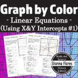 Graphing Linear Equations, By Color, Finding Slope and X- & Y-intercepts