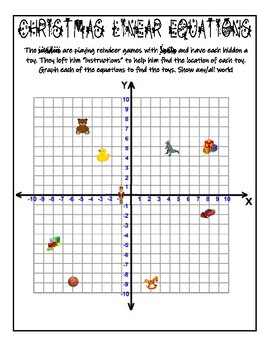 Graphing Linear Equations Christmas Activity Slope-Intercept Form