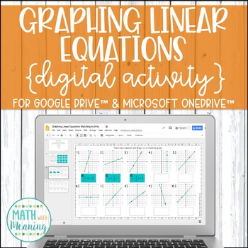 Graphing Linear Equations DIGITAL Matching Activity for Google Drive & OneDrive