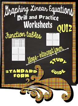 Graphing Linear Equations Drill and Practice Worksheets