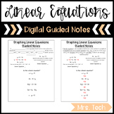 Graphing Linear Equations Guided Notes - Digital