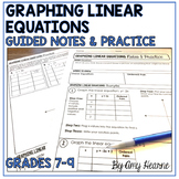 Graphing Linear Equations Guided Notes and Practice