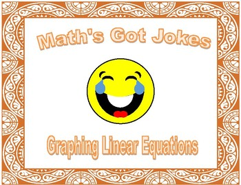 """Graphing Linear Equations """"Math's Got Jokes"""""""