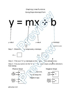 Graphing Linear Equations NOTES Guide