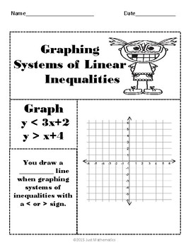 Systems of Linear Inequalities No Prep Lessons