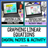 Graphing Linear Equations Note & Activity Bundle  For Goog