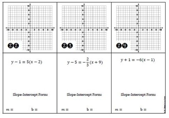 Graphing Linear Equations Practice ALL Forms