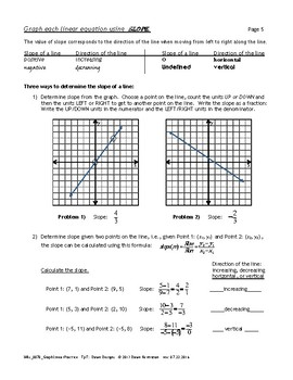Graphing Linear Equations - Practice: Plot Points, X- and Y-Intercepts, Slope