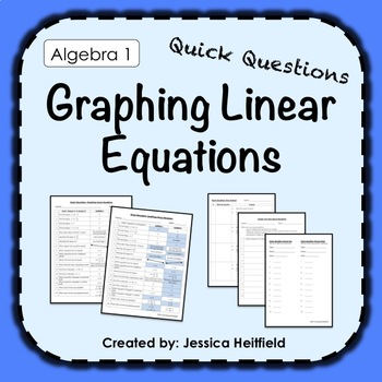 Graphing Linear Equations Activity: Fix Common Mistakes!