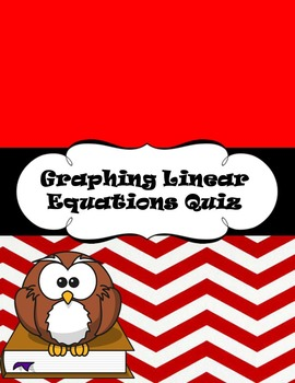Graphing Linear Equations Quiz