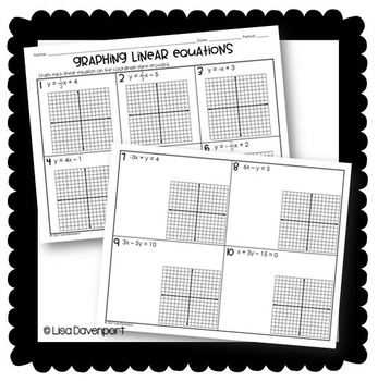 Graphing Linear Equations (Skills Practice)