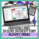 Graphing Linear Equations Slope-Intercept Form Activity Pa