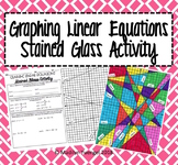 Graphing Linear Equations Stained Glass Activity