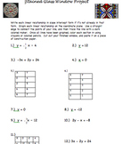 Graphing Linear Equations: Stained Glass Window Project
