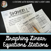Graphing Linear Equations : Middle School Math Stations