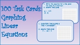 100 Graphing Linear Equations Task Cards