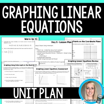 Graphing Linear Equations Unit Plan