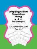 Graphing Linear Equations Using x- and y-intercepts Worksheet