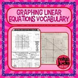 Graphing Linear Equations Vocabulary guided notes