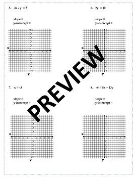 Slope Intercept Form Activity {Graphing Algebra} {Graphing Slope Intercept Form}