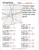 Graphing Linear Equations by Color, Finding Slope and X & Y intercepts, Packet 2