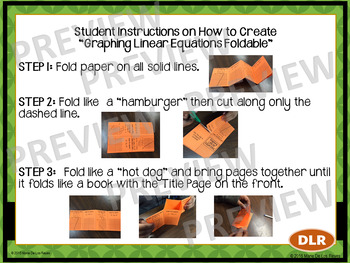 Graphing Linear Equations: Slope-Intercept, Standard & Point-Slope Notes Booklet
