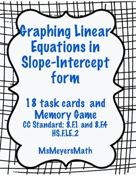 Graphing Linear Equations in Slope Intercept Form