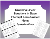 Graphing Linear Equations in Slope Intercept Form Guide Notes