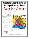 Graphing Linear Equations in Slope-Intercept Form Color by Number Activity