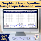 Graphing Linear Equations in Slope-Intercept Form Digital Drag-and-Drop Activity
