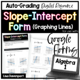 Graphing Linear Equations in Slope- Intercept Form- for use with Google Forms