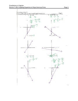 Graphing Linear Equations in Slope-Intercept Form (solve for y first) (4)