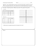 Graphing Linear Equations using Tables (Transformations of linear equations)