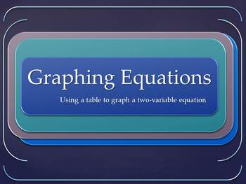 Graphing Linear Equations using Tables