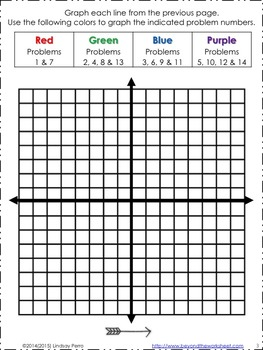 Graphing Linear Equations with Color Worksheet by Lindsay Perro | TpT